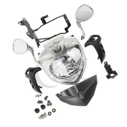Headlight Set Head Light Assembly For 2007 2009 Yamaha Fz6 Fz6n