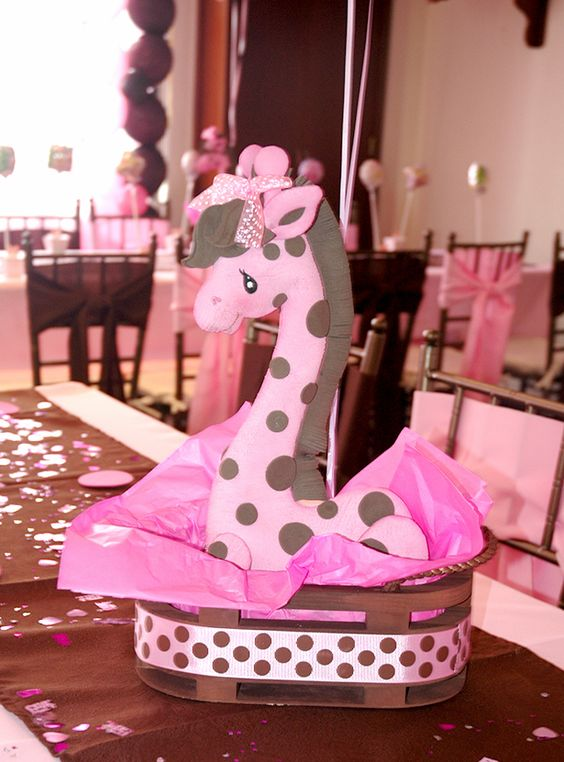 centros de mesa para baby shower de niña de safari , Google Search