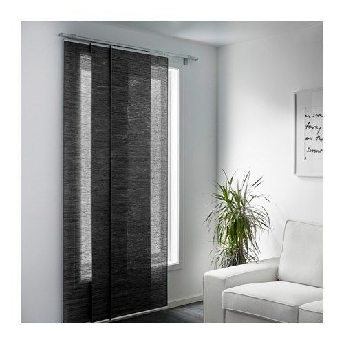 Leggere o oscuranti, monocolore o a fantasia, il catalogo ikea offre. Fonsterviva Panel Curtain Dark Gray 24x118 Ikea Ikea Panel Curtains Sliding Curtains Panel Curtains