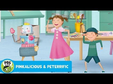 Pinkalicious And Peter Are Amazed When Their Robot Robotta Starts Move And Talking All On Her Own They Think She Can Pbs Kids Pbs Kids Games Pbs Kids Videos