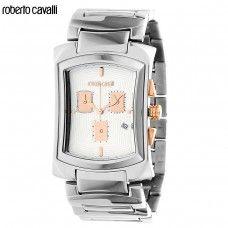 РАЗПРОДАЖБА!  Мъжки часовник на марката ROBERTO CAVALLI  Колекция: Tomahawk  Оригинален продукт с гарантиран произход и качество  Оригинално лого на марката  Защитна холограма, гарантираща автентичността на продукта  Оригинална кутия  Характеристики:      Материал корпус: Стомана     Минерално стъкло     Каишка: стомана, сгъваема закопчалка     Кварцов механизъм     Хронограф, дата     Водоустойчив: 3АТМ     Размер корпус: 54мм х 34мм     Цвят: сребрист  Доставка до 2 работни дни