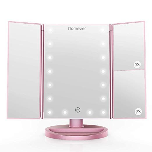 Homever Makeup Vanity Mirror 21 Led Lighted Mirror With Touch