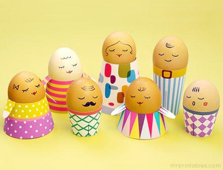 Egg People -- printable Easter crafts for kids