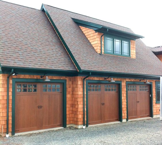 Clopay canyon ridge limited edition series faux wood for Faux carriage garage door