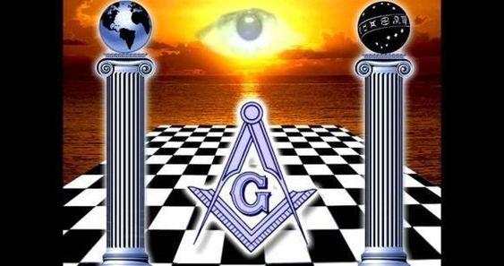 Freemason square and compass