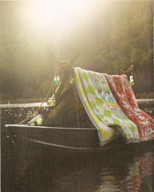 tent boat.