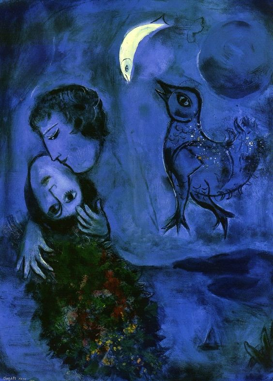 Imagination: Chagall, Blue Landscape, 1949, gouache on paper, 77 x 56 cm, Wuppertal, Von der Heydt Museum,