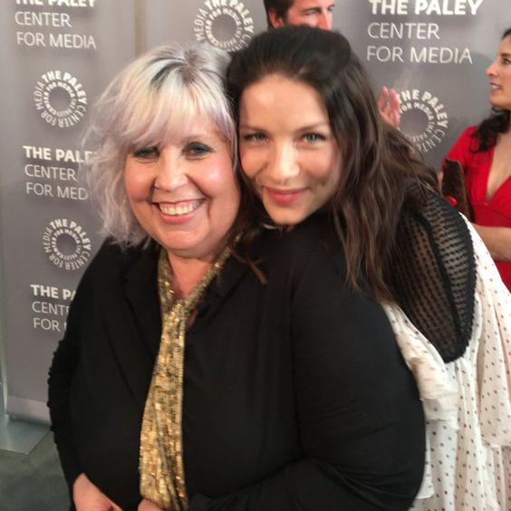 Terry Dresbach and Caitriona Balfe at Outlander Artistry.
