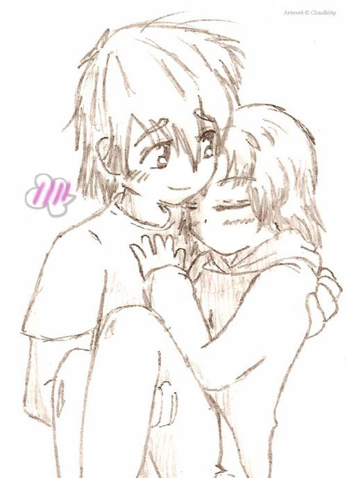 Anime Couple by Cloudkitty.deviantart.com on @deviantART