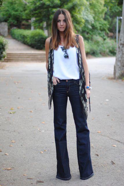 Resultado de imagen para flare jeans outfits