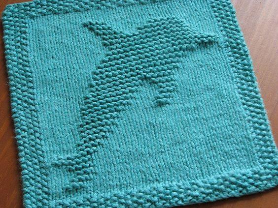 Knit Dishcloth Pattern Ravelry : Ravelry: Dolphin Dishcloth pattern by Kelly Daniels. KNIT/CHOCHET DISH/WASH...