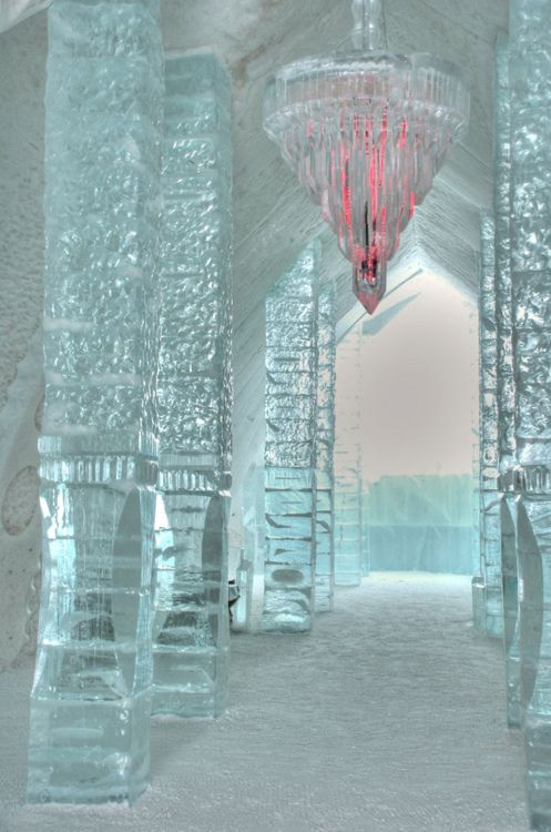 Ice Hotel in Quebec, Canada.