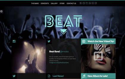 Beat it's a unique one-page HTML5 Template, especially designed