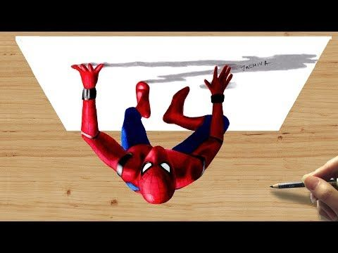 3d Colored Pencil Drawing Of Spiderman Homecoming Speed Draw Jasmina Susak Youtube Spiderman Coloring Colored Pencil Drawing Drawings