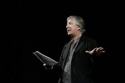 """Alan Rickman reciting """"Hamlet"""" during an acting he gave at Rustaveli National Theatre in Tbilisi, the capital city of Georgia. June 2007:"""