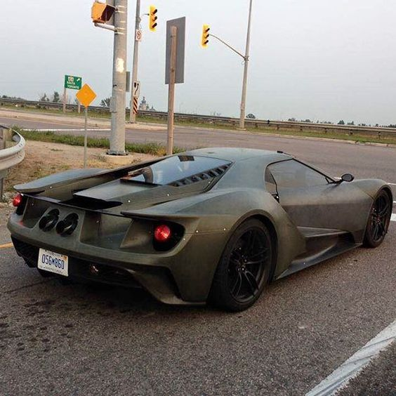 """2016 Ford GT Spotted In Ontario - pic via #TorontoCarSpotting Facebook Group #CarsWithoutLimits #FordGT"""