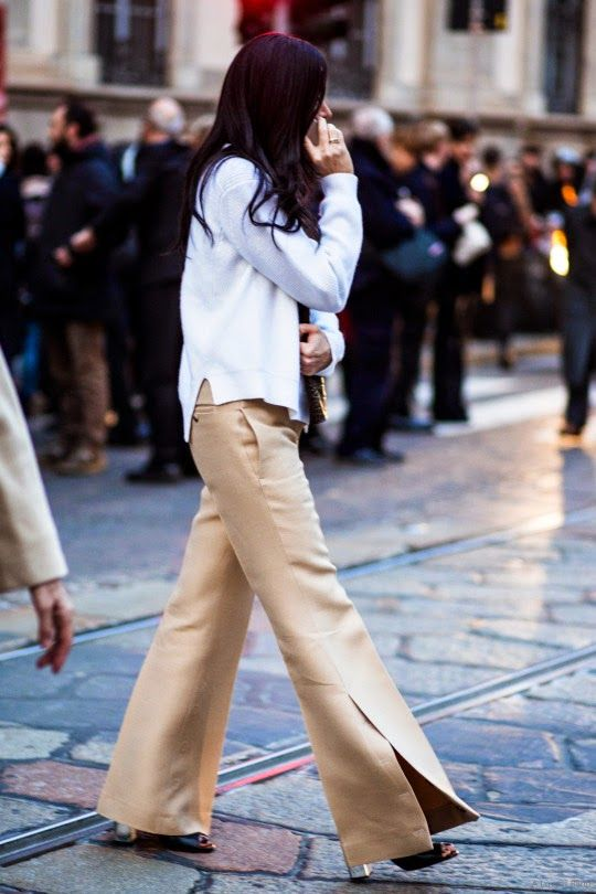 Parisienne: Trousers With Exaggerated Slits