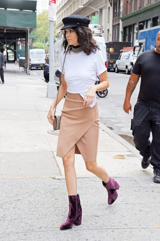 On Kendall Jenner: Saint Laurent Sailor Hat in Black Wool($595); Kendall…
