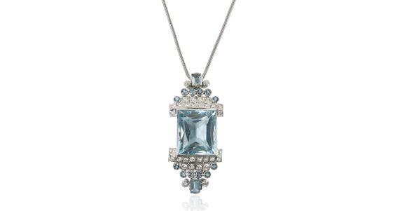 Item Details GEMSTONE(S) Aquamarine, Diamond MAIN GEMSTONE CARAT WEIGHT 36.97 ct…