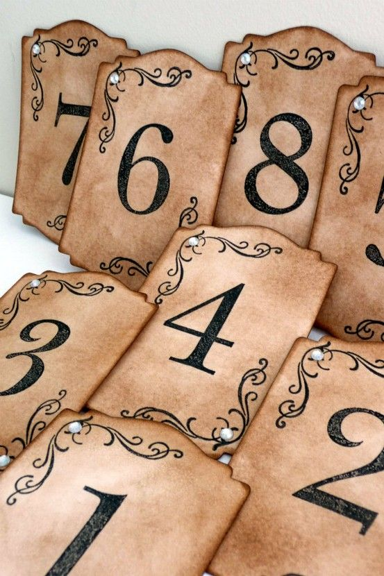 Elegant Table Number Cards - Etsy.