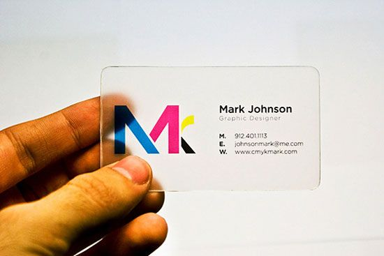 transparent business cards are a unique way to stand out in a crowd graphic design - Graphic Design Ideas