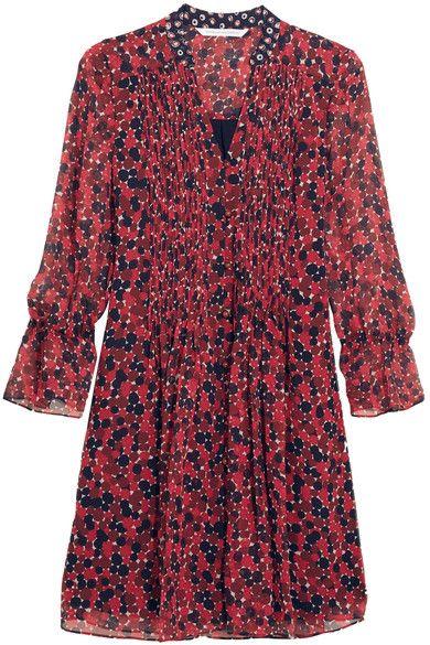 DIANE VON FURSTENBERG Kourtni Printed Silk-Georgette Mini Dress. #dianevonfurstenberg #cloth #dresses