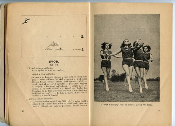 """In this instance, the """"Bílé kroužky"""" choreography was already started in 1946, in preparation for the first post-war XI. Sokol Slet. In 1947 it had already been practiced and learned by all the participants. and various regional """"Mini"""" Slets were held to iron out any artistic or logistical problems. Our district """"Troja"""", part of the """"Župa Podbělohorská"""" performed with hundreds of other teenagers on the huge Strahov  Stadium twice - each time wearing a different costume. The blue/white was…"""