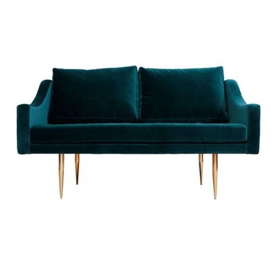 Love Sofa Dimensions: Sofa Plywood Frame, Velvet Fabric Upholstery, 2 Seats