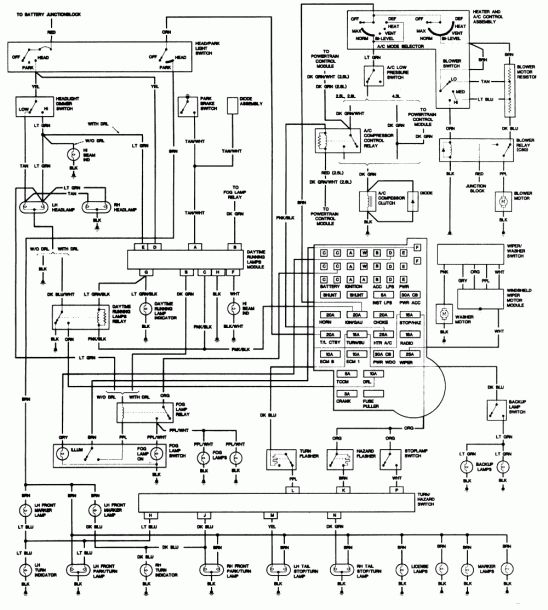1992 Chevy 1500 Wiring Diagram Chevy 1500 Chevy S10 Diagram
