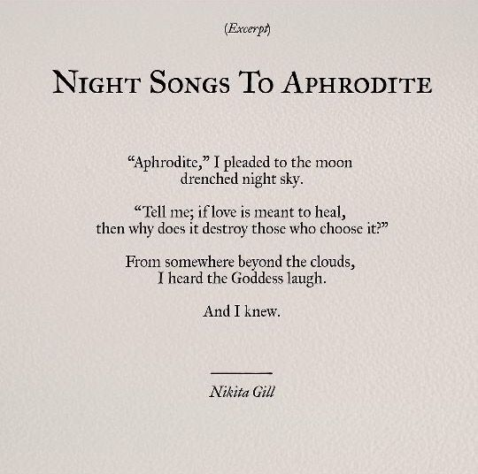 Nikita Gill Pretty Words Poem Quotes Words
