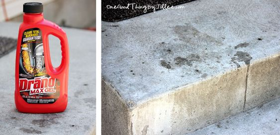 Drano saved my marriage or how to clean concrete stains for Concrete cleaner oil remover