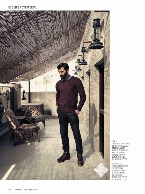 'On the Home Run': Jacek Jelonek para Esquire Middle East Septiembre 2014