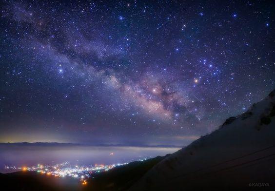 Kagaya星空ギャラリー 第30回 長野 中央アルプス こと座流星群 画像あり 星空 アルプス 風景