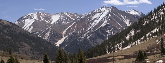 Redcloud (14,039ft) and Sunshine (14,001ft) in the San Juan Mountains, Colorado. The only two 14er summits to date.