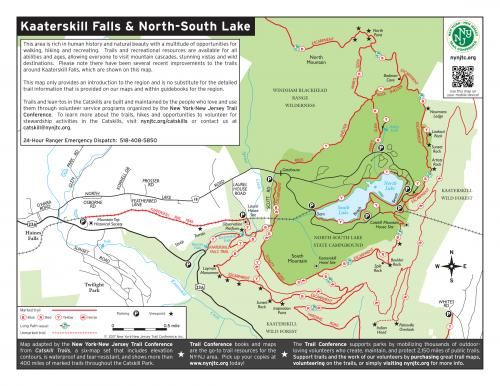 north south lake map Kaaterskill Falls Trail Map North South Lake Trail Conference north south lake map