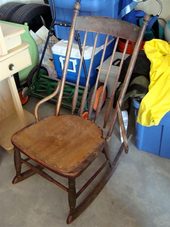 diddle dumpling: Before and After: Antique Rocking Chair Restoration