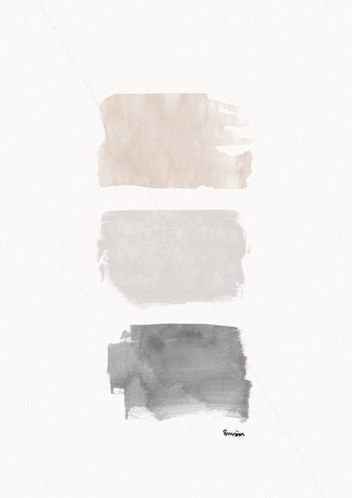 Love these grey and neutral color swatches. Even on a large canvas would be perfect minimalist art.: