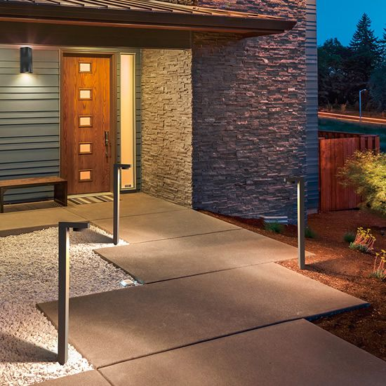 Eurofase 31911 120 Volt Bollards Eurofase Bollards Deep Discount Lighting In 2020 Led Outdoor Lighting Modern Landscaping Mid Century Modern Landscaping