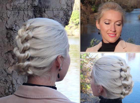 Cool Knotted Braid Updo And Hair Tutorials On Pinterest Short Hairstyles For Black Women Fulllsitofus