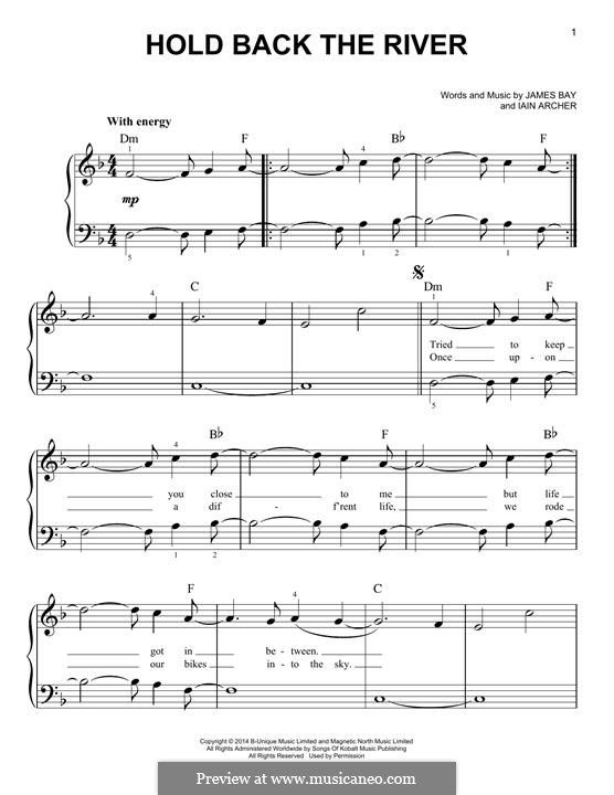 Hold Back The River Music I Love Sheet Music Hold