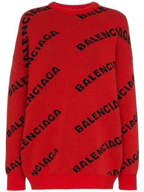 pomeriggio In piedi Ritornello  Balenciaga Suéter Com Logo - Farfetch | Maglioni, Misto lana, Balenciaga