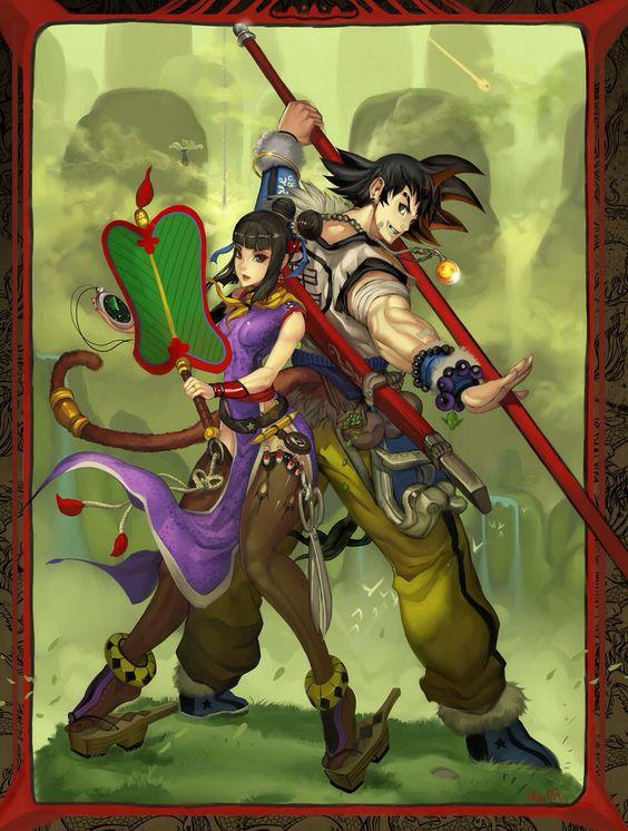 Stylized Goku & Chi-chi