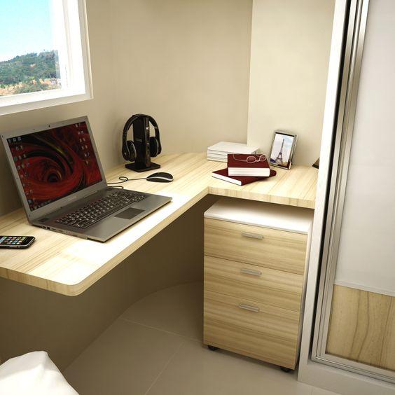 Quartos pequenos Casa Pro Decor Quarto de solteiro  ~ Quarto Solteiro Decorado Pequeno