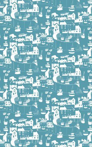 Janet Bell Blue Tea towel