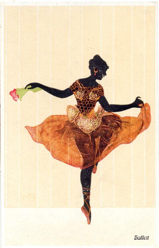 Ballet, 1920. Scherenschnitt