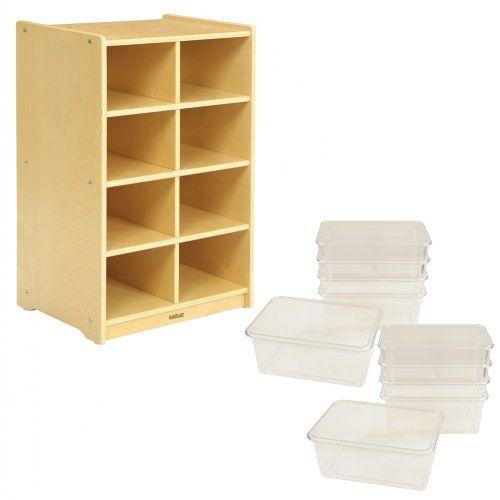 Carolina 8 Cubbie Storage Unit With 10 Clear Bins Clear Bins Storage Home Decor