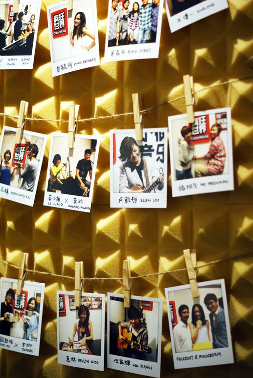 polaroid wall: