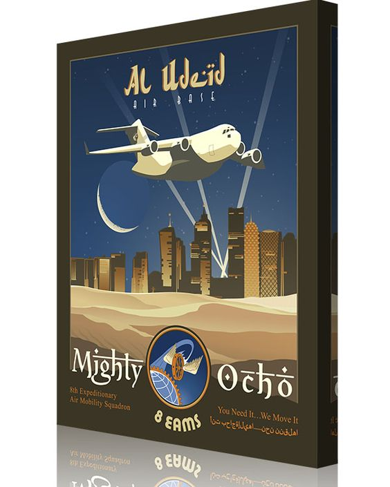 Share Squadron Posters for a 10% off coupon! Al Udeid – 8th EAMS C-17 #http://www.pinterest.com/squadronposters/