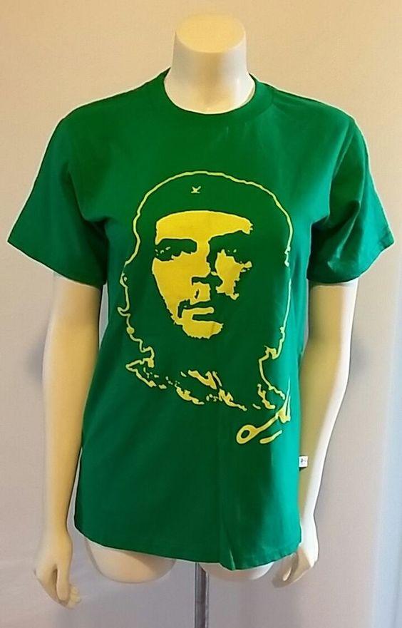 Che Guevara Cuba Kariba Small Unisex Green Yellow Graphic Print Tee T Shirt…