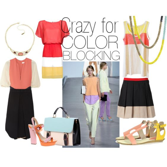 COLOR BLOCKING, created by alexandrachellee on Polyvore